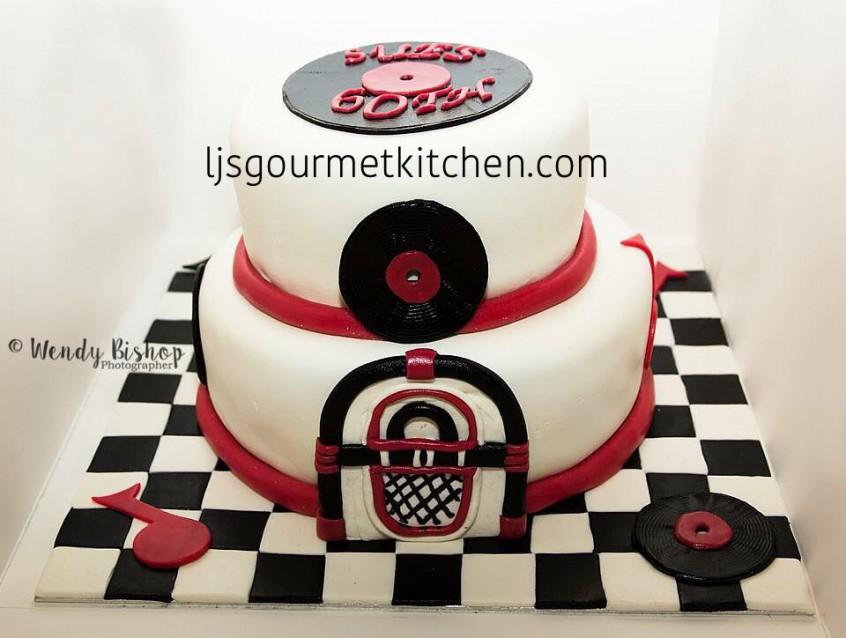 Rock N Roll Birthday Cake Ljs Gourmet Kitchen