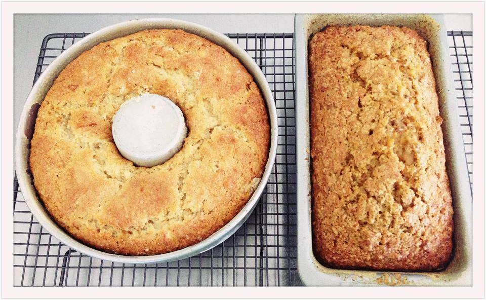 Banana Cake (left) and Carrot Cake!
